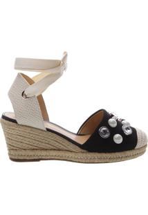 Sandália Espadrille Glam Stones Black | Schutz