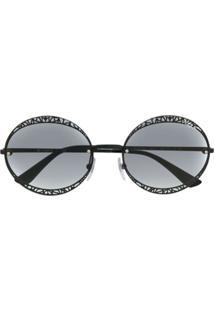 Vogue Eyewear Óculos De Sol Redondo - Preto
