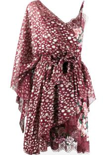 Faith Connexion One Shoulder Metallic-Embellished Dress - Vermelho