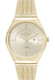 Relógio Technos Feminino Gl15Ar/4X - Feminino-Dourado