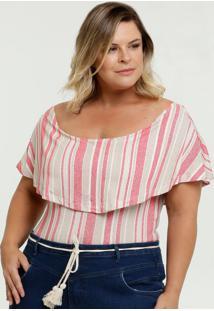 Body Feminino Ombro A Ombro Plus Size Marisa
