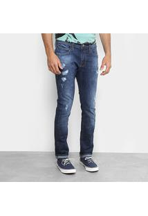 Calça Jeans Skinny Colcci Felipe Estonada Puídos Masculina - Masculino