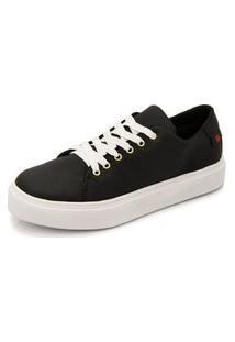 Sapatênis Tênis Casual Ec Shoes Preto