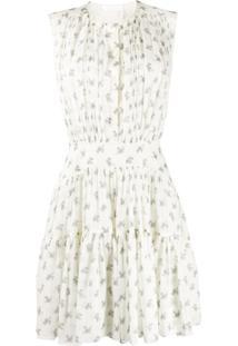 Chloé Vestido Sem Mangas Com Estampa De Buquê - Neutro