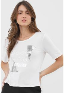 Camiseta Morena Rosa Good Things Branca - Branco - Feminino - Viscose - Dafiti