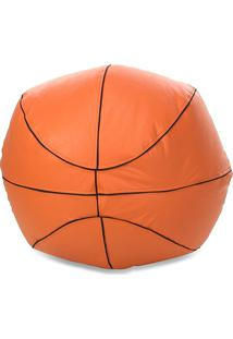 Puff Infantil Big Ball Basquete Courino Laranja - Stay Puff