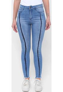 Calça Jeans Enfim Cigarrete Feminina - Feminino-Azul