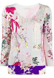 Etro Floral Print Round Neck Jumper - Neutro