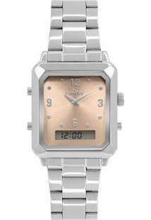 Relógio Condor Top Fashion Feminino - Feminino-Prata