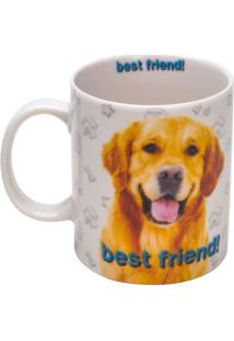 Caneca De Porcelana Golden Retriever Rojemac