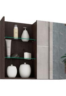 Espelheira Para Banheiro Com 1 Porta 60Cm Jasmin-Mgm - Café