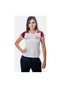 Camiseta Flamengo Zico Retrô Feminina