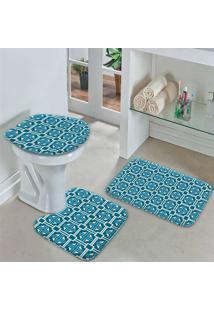 Jogo Tapetes Para Banheiro Quadrados