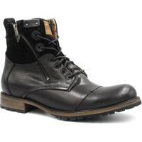 27e084564 Bota Coturno Zariff Shoes Rock Masculina - Masculino-Preto