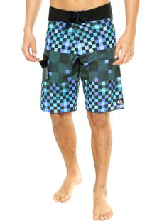 Boardshorts Quiksilver New Check Block Multicolorido