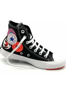 Tãªnis Converse All Star Chuck Taylor Logo Play Hi Preto Vermelho Ct13230001 - Preto - Feminino - Dafiti