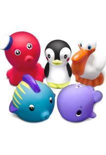 Jogo De Brinquedos Para Banho Animais Marinhos - Vermelhcomtac