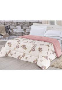 Edredom King Dupla Face Quality Bia Enxovais Floral Rose