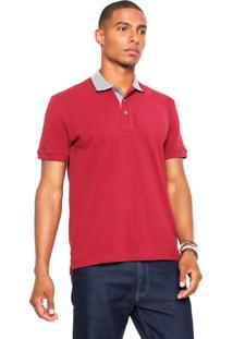 Camisa Polo Sergio K Tricolor Vermelha