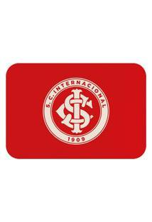 Tapete De Porta Oficial Do Internacional Escudo Vermelho 60X40Cm