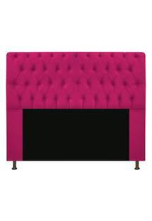 Cabeceira Casal 140Cm Para Cama Box Sofia Suede Pink - Ds Estofados