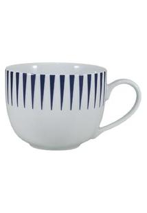 Xícara Chá Com Pires Porcelana Schmidt - Dec. Sol Azul