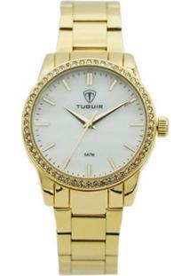 Relógio Tuguir Analógico Feminino - Feminino-Dourado