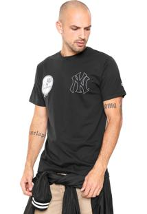 Camiseta New Era Logo New York Yankees Preta