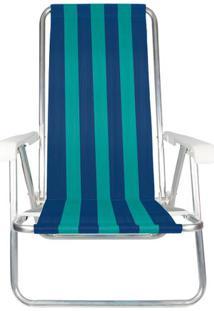 Cadeira De Praia 4 Posições Mor Alumínio Cores Diversas - Item Sortido Unica