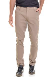 Calça Sarja Lemier Jeans Collection Slim Fit Color Caqui