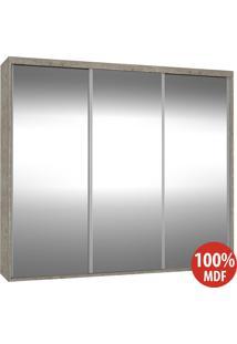 Guarda Roupa 3 Portas De Espelho 100% Mdf 1979E3 Demolição - Foscarini