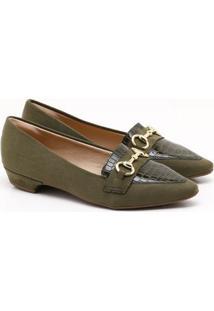 Sapatilha Charlote Shoes Camurça Verde Militar