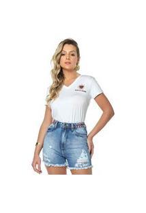 T-Shirt Daniela Cristina Gola V 09 602Dc10315 Branco