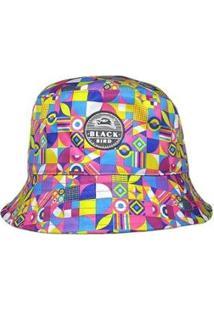 Chapéu Bucket Hats Black Bird Cl Feminino - Feminino-Rosa+Azul