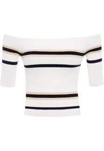 Blusa Feminina Tricot Listrada - Off White