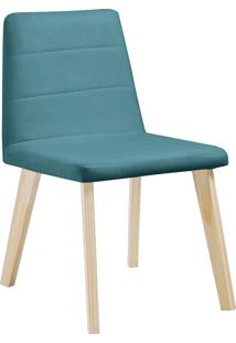 Cadeira Caju F58-1 Veludo – Daf Mobiliário - Azul