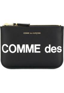 Comme Des Garçons Wallet Carteira Compacta Com Logo - Preto