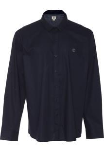 Camisa Timberland Reta Essencial Dark Azul-Marinho