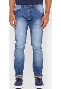 Calça Jeans Fit Reta Biotipo Stone Médio Masculina - Masculino