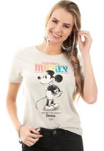 Blusa Com Estampa Com Relevo Cinza Disney