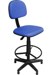 Cadeira Recepção Pethiflex Csx-02 Caixa Alta Giratória Azul