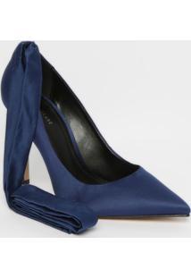 Scarpin Melissa - Azul Marinho - Salto: 11Cm - Lle Lis Blanc