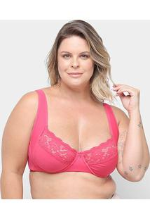 Sutiã Marcyn Com Aro Detalhe Renda Plus Size - Feminino