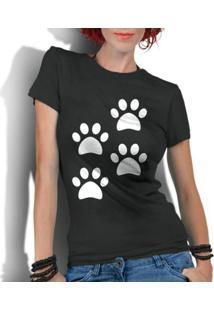 Camiseta Criativa Urbana 4 Patas Dog - Feminino-Preto