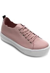 Tênis Couro Hardcorefootwear Feminino - Feminino-Rosê