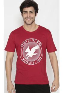 Camiseta ÁGuia- Vermelha & Brancawrangler