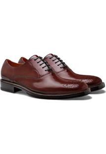 Sapato Social Brogan Oxford Smith Masculino - Masculino-Marrom