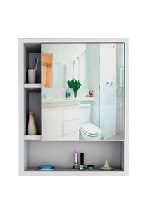 Armário Para Banheiro C/ Espelho Slim Branco E Castanho Appunto