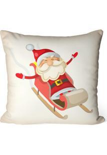 Capa De Almofada Love Decor Avulsa Decorativa Papai Noel Com Treno - Off-White - Dafiti