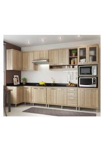 Cozinha Completa Multimóveis Com 8 Peças Sicília 5831 Argila/Argila